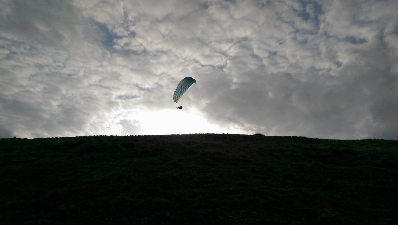 Neil soaring over take off